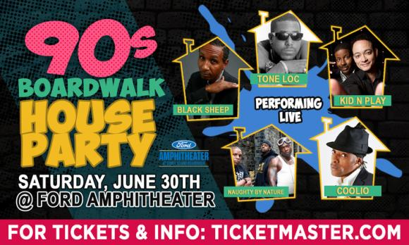 Boardwalk House Party: Kid N Play & Naughty By Nature at Ford Amphitheater at Coney Island