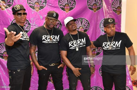 RBRM: Ronnie DeVoe, Bobby Brown, Ricky Bell & Michael Bivins at Ford Amphitheater at Coney Island